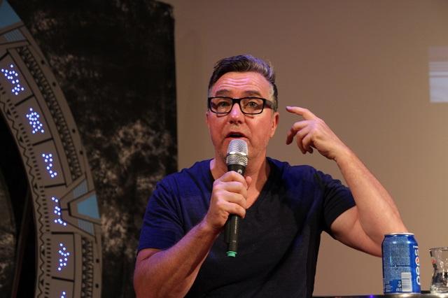 Paul McGillion na své debatě na Festivalu Fantazie 2015. Zdroj: FF: Roman Randalf Kresta